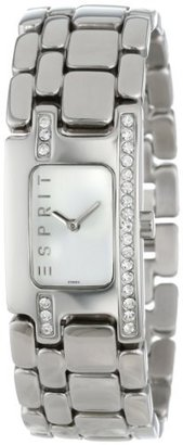 ESPRIT Women's ES102322007 Organic Pretty Silver Houston Classic Fashion Analog Wrist Watch $100 thestylecure.com