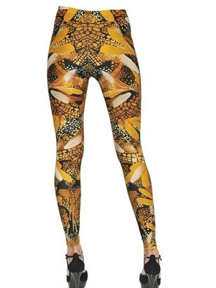 Alexander McQueen Dragon Fly Print Lycra Leggings