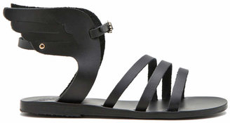 Ancient Greek Sandals Ikaria Calfskin Leather Sandals in Black | FWRD
