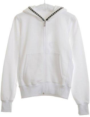 Lucien Pellat-Finet Leather Studs Hooded Jacket