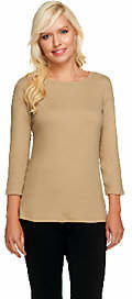 Liz Claiborne New York Essentials 3/4 Sleeve Ribbed T-Shirt $29 thestylecure.com