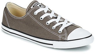 Converse DAINTY CANVAS OX women's Shoes (Trainers) in Grey