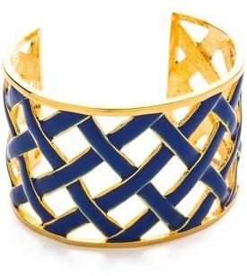 Kenneth Jay Lane Cross Woven Cuff Bracelet