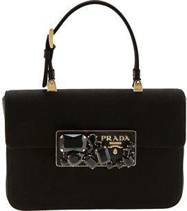 Prada Jewel Clasp Handle Bag- Black