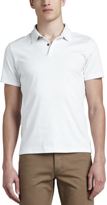 Theory Short-Sleeve Jersey Polo, White