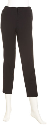 Helmut Lang Stovepipe Crop Pants, Black