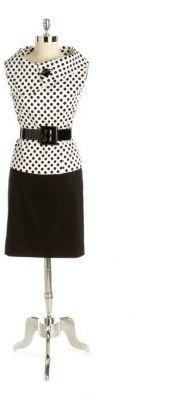 Tahari ARTHUR S. LEVINE Petite Stretch Cotton Two-Piece Skirt Suit