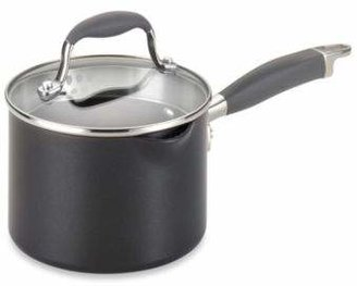 Anolon Advanced 2-Quart Covered Straining Saucepan with Pour Spout