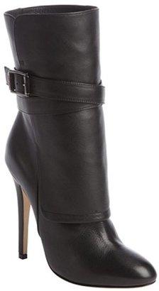 Jimmy Choo black leather buckle detail 'Blaine' heel boots