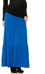 Motherhood Secret Fit Belly® Full Length Tiered Maternity Skirt