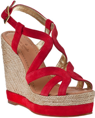 Kate Spade Liv Wedge Espadrille Flame Suede