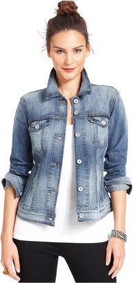 Levi's Jacket, Classic Trucker Saddle Blue Wash