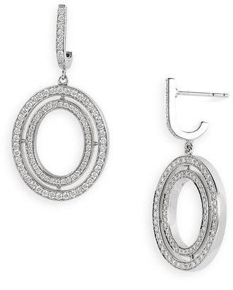 Ivanka Trump Small Oval Diamond Drop Earrings