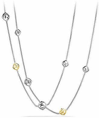 David Yurman DY Logo Chain Necklace with Gold