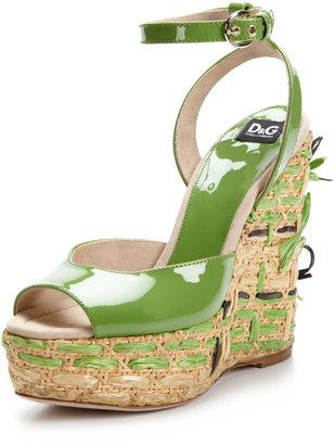 D&G Straw Wedge Sandal