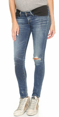 Citizens of Humanity Racer Ultra Maternity Skinny Jeans $248 thestylecure.com