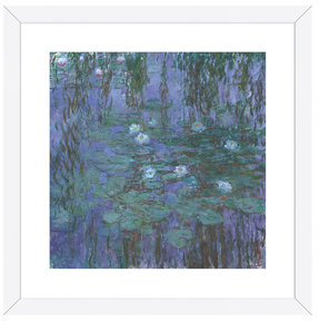 Blue Water Lilies, 1916-1919 by Claude Monet (Framed)