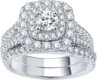MODERN BRIDE Modern Bride Signature 2 CT. T.W. Certified Diamond Bridal Set $9,583 thestylecure.com