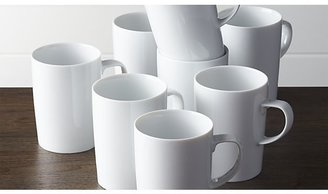 Crate & Barrel Set of 8 Verge Latte Mugs
