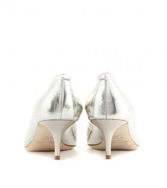 Jimmy Choo Allure leather kitten-heel pumps