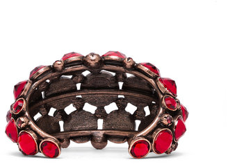 Lanvin Jeweled Bracelet in Rouge