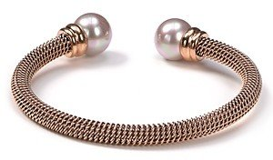Majorica Stainless Steel and Nuage Simulated Pearl Cuff