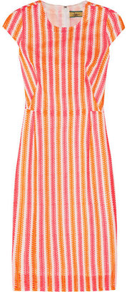 Issa Neon broderie anglaise cotton dress