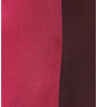 Victoria Beckham Victoria, Two-tone satin-panelled dress