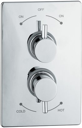Abode Euphoria Concealed Plate Mounted Thermostatic Shower Mixer, H70mm, Harmonie