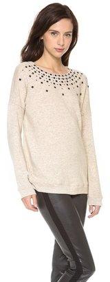 Graham & Spencer Brushed Sweatshirt with Studding Detail