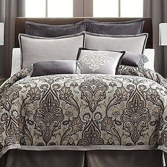 Royal Velvet Lourdes Gray Comforter Set & Accessories