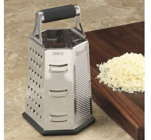 Chefs Stainless-Steel 6-Sided Grater