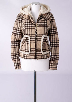Delia's Plaid Sherpa Coat