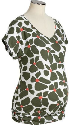 Old Navy Maternity Floral-Print Jersey Tops