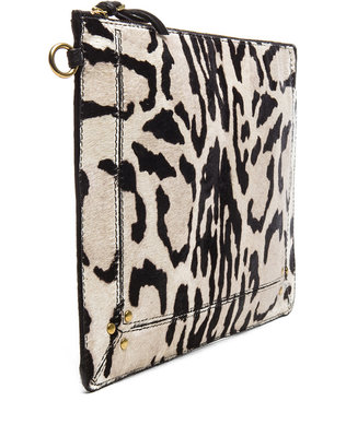 Jerome Dreyfuss Large Popoche Clutch in Chat Sauvage