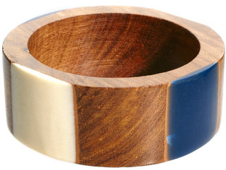 French Connection Resin & Wood Bangle
