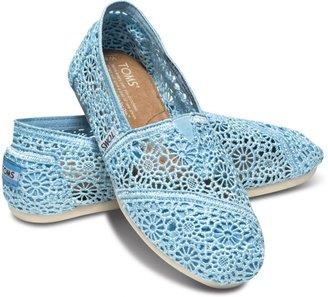 Toms Blue crochet women's classics