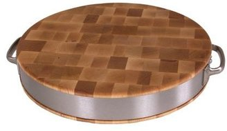 """John Boos & Co. Maple End-Grain Chopping Block with Stainless Steel Handles, 15"""""""