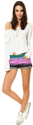 Volcom The Sound Check Short Short in Light Purple Dip