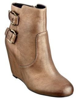 GUESS Ulfred Leather Wedge Booties