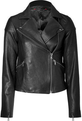 Marc by Marc Jacobs Black Sergeant Leather Jacket