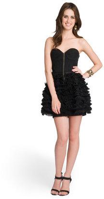 LaROK Tiered Ruffle Bustier Dress