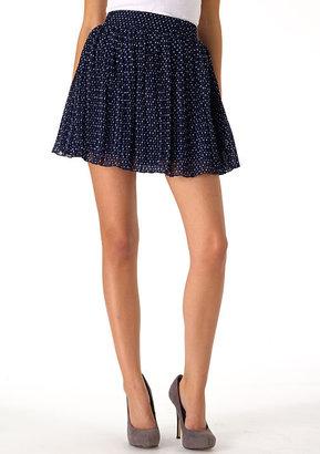 Fire Polkadot Pleated Skirt