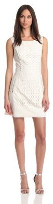 Tracy Reese Women's Perforated Shift Dress