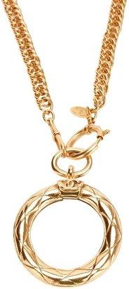 Chanel circle pendant necklace