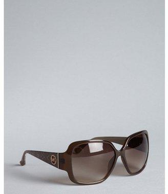 Michael Kors brown acrylic 'Zuma' snakeskin stem sunglasses