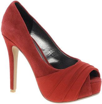 Ravel Red Heeled Peeptoe Shoe