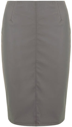 Dorothy Perkins Grey leather look pencil skirt