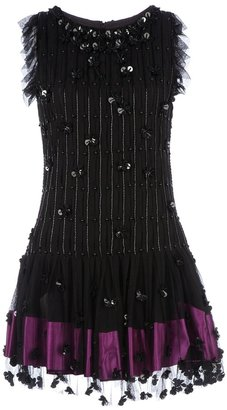 RED Valentino sequin embellished pleated dress