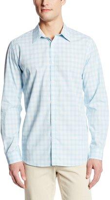 Calvin Klein Men's End On End Tonal Check Woven Shirt